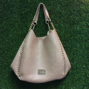 Tan Bebe Chain Purse